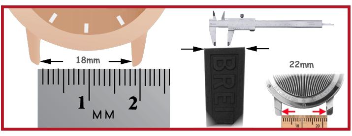 Relógio pulseiras Bracelete Relógio Nylon silicone ferramentas relojoeiro