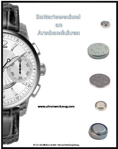 Fachheft Nr.2: Batteriewechsel an Uhren