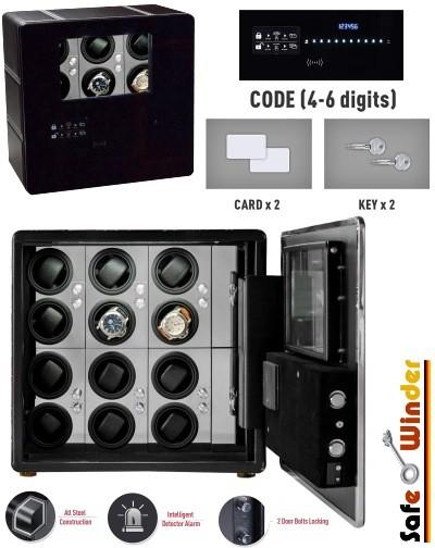 Cofre e movimentadores relógios = SAFEWINDER PRESTIGE X12